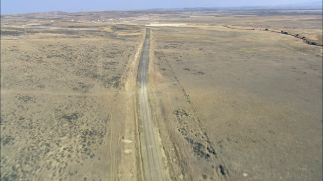 Flight Across Interstate 80  - Aerial View - Wyoming, Carbon County, United States