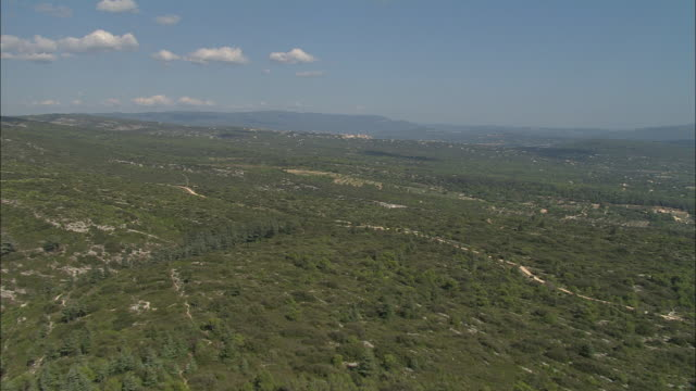 flight across maquis landscape west of gordes - apt stock videos and b-roll footage