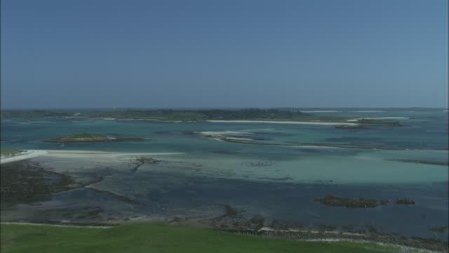 flight across samons to tresco - isles of scilly stock videos & royalty-free footage