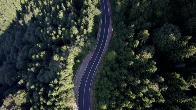 Flight along Transfagarasan road