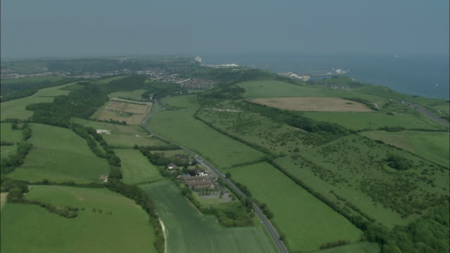 flight and approach to dover - dover england stock videos and b-roll footage