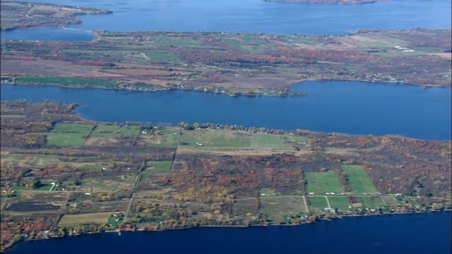 Flight And Pan Along North Hero Island  - Aerial View - Vermont,  Grand Isle County,  United States