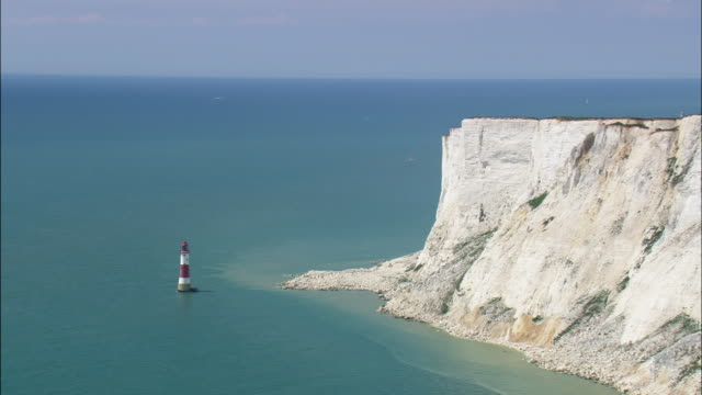 flight and reveal beachy head - east sussex stock videos & royalty-free footage