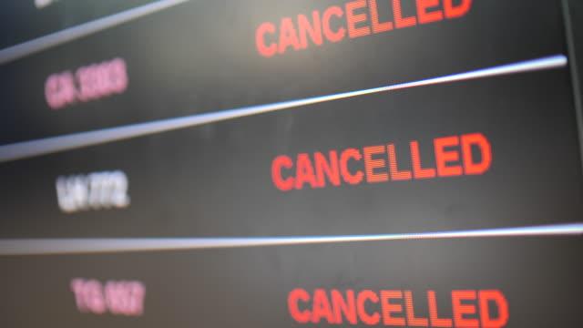 vídeos y material grabado en eventos de stock de estado de cancelación de vuelo - símbolo