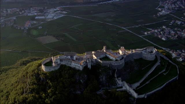 Flight Circling Beseno Castle  - Aerial View - Trentino-Alto Adige, Trento, Besenello, Italy