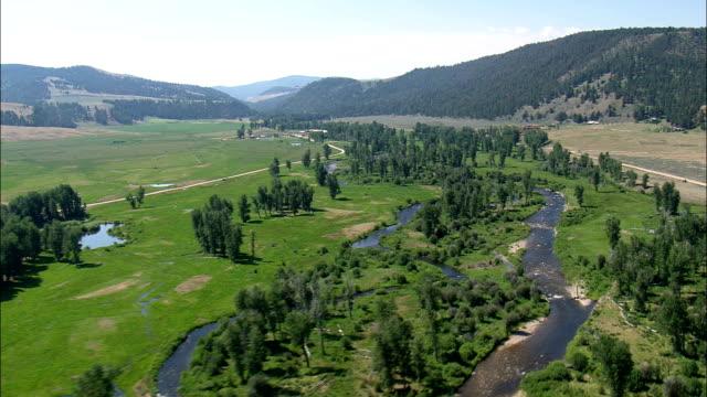 Flight Down Rock Creek  - Aerial View - Montana,  Granite County,  helicopter filming,  aerial video,  cineflex,  establishing shot,  United States
