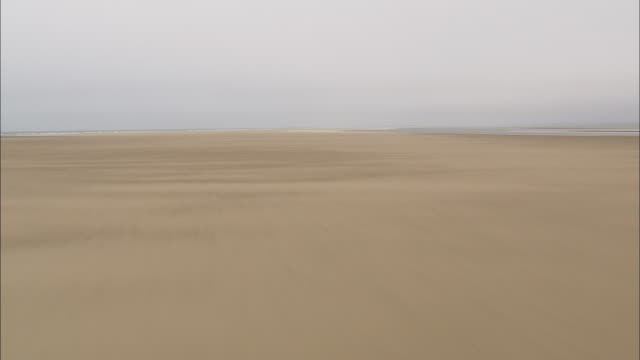 flight fast and low over beach in holkham bay - norfolk england stock videos & royalty-free footage
