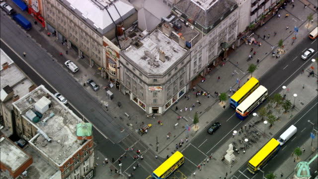 Flight Following Buses To Dublin Spire  - Aerial View -, Ireland