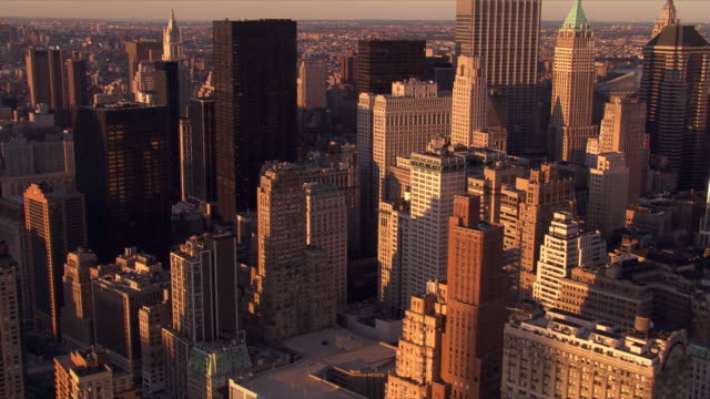flight from 40 wall street to view of the empire state building. shjot in 2006. - 2006 stock videos & royalty-free footage