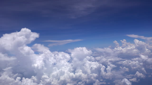 4k flight in the clouds blue sky - heaven stock videos & royalty-free footage
