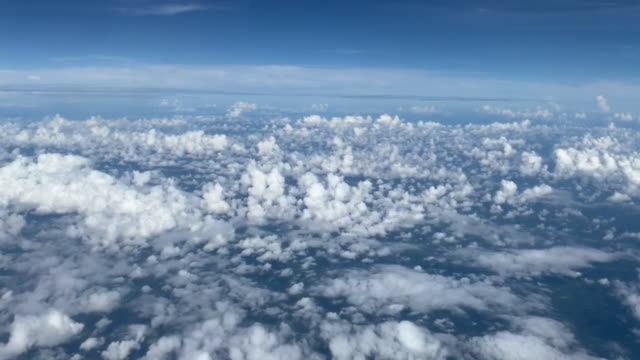 flight in the clouds blue sky - viewpoint stock videos & royalty-free footage