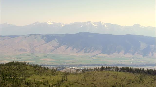 Flyg till National Bison utbud - Flygfoto - Montana, Lake County, USA