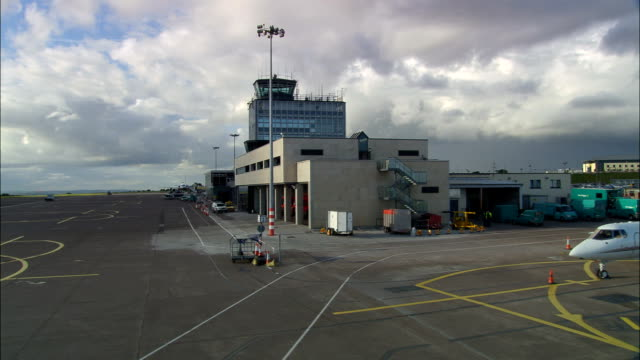 Flight Landing At Cork Airport  - Aerial View - Munster, Cork, Ireland