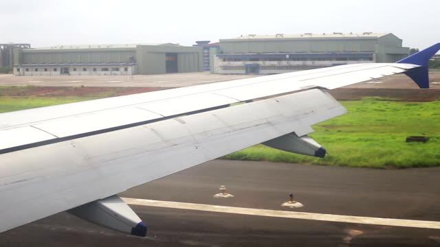 Flight landing at Dabolim International Airport in Goa, India
