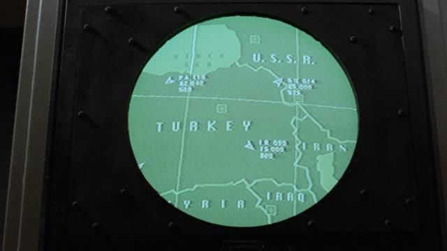 flight of something moving ne across turkey toward ussr. - radar stock videos & royalty-free footage