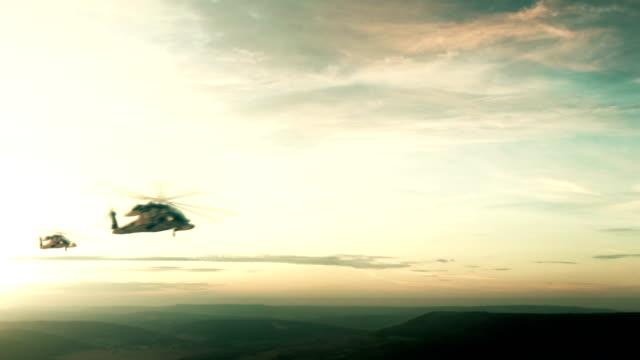 flight of the helicopter - military helicopter stock videos & royalty-free footage