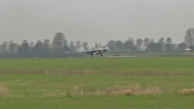 flight operations of f15 eagles at leeuwarden air force base netherlands for frisian flag 2018 frisian flag is a multinational exercise that enables... - mcdonnell douglas f 15 eagle stock videos & royalty-free footage