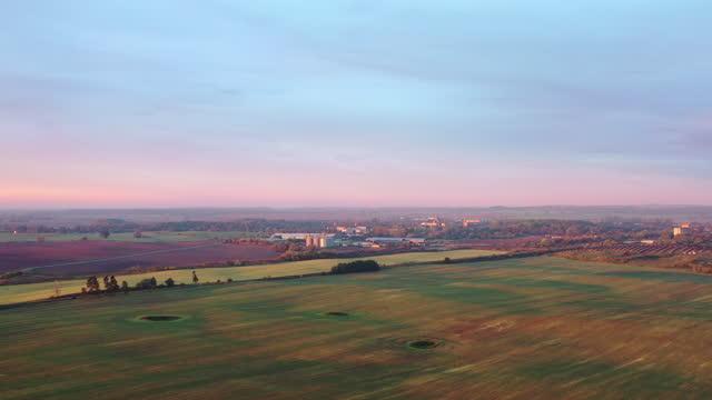 flight over beautiful countryside next to german highway - kontrastreich stock-videos und b-roll-filmmaterial