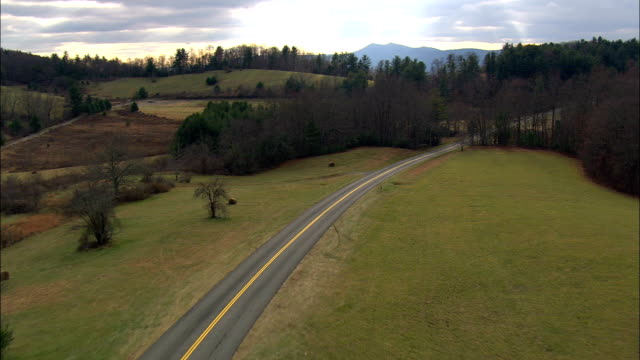 flight over blue ridge parkway  - aerial view - virginia,  grayson county,  united states - ridge stock videos & royalty-free footage