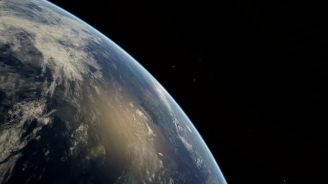 flight over earth from great britain - satellite view stock videos & royalty-free footage