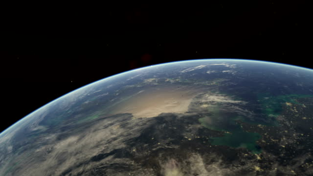 flight over earth from japan - pacific islands stock videos and b-roll footage