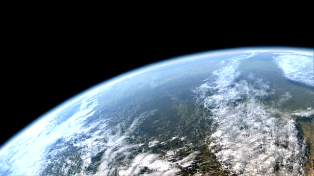 flight over earth from space - orbiting stock videos & royalty-free footage