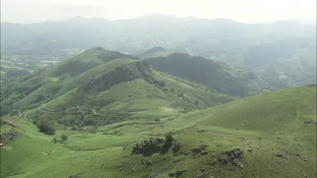 flight over escarpment - comunidad foral de navarra stock videos and b-roll footage