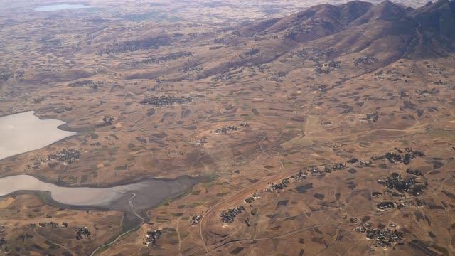 flight over  ethiopia - somalia stock videos & royalty-free footage