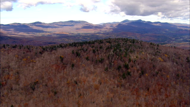 Flight Over Lowell Mountain  - Aerial View - Vermont,  Orleans County,  United States