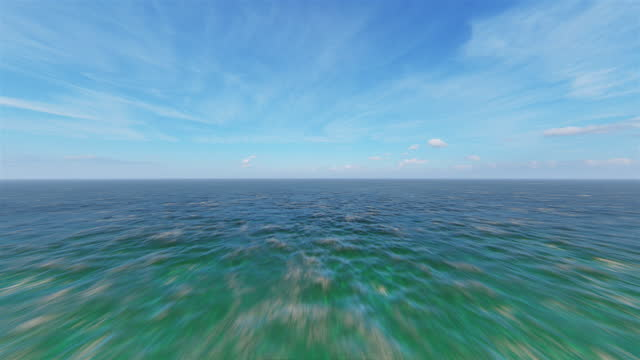 vidéos et rushes de vol au-dessus de l'océan - éthéré