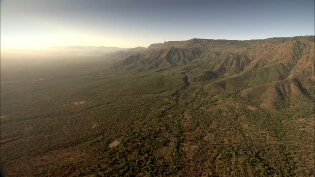 Flight over Rift Valley landscape