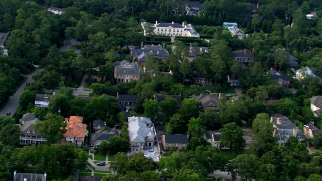 Flight over River Oaks, Houston's wealthy residential area. Shot in 2007.