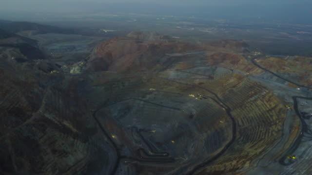 Flight over Salt Lake City copper mine