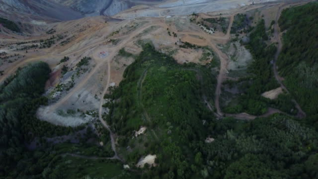 flight over salt lake city copper mine - copper mine stock videos and b-roll footage