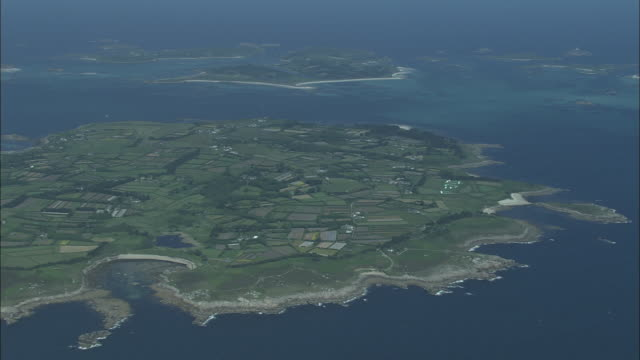 flight over st mary's (isles of scilly) - isles of scilly stock videos & royalty-free footage