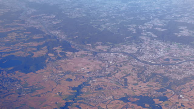 AERIAL Flight Over The Middle Rhine Area With Andernach And Neuwied (UHD)