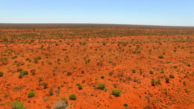 Flight over the outback in western australia
