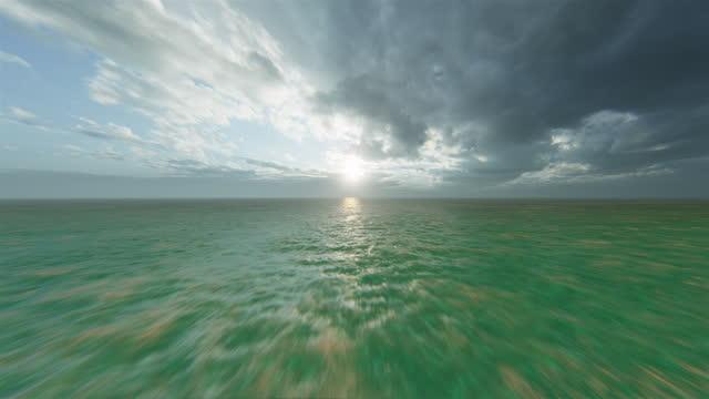flight over tropical ocean - fantasy stock videos & royalty-free footage
