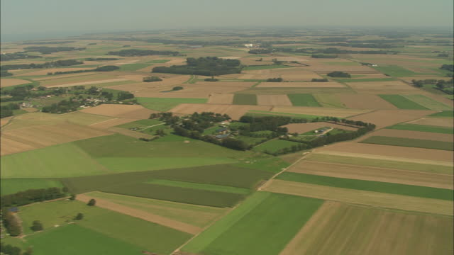 flight over upper normandy farmland - france stock videos & royalty-free footage