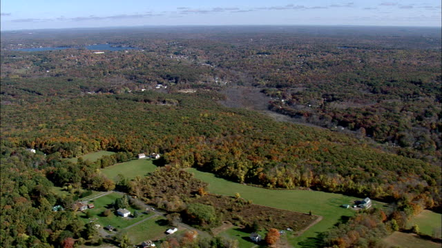 Flight Past Landscape East Of Connecticut River  - Aerial View - Connecticut,  Middlesex County,  United States