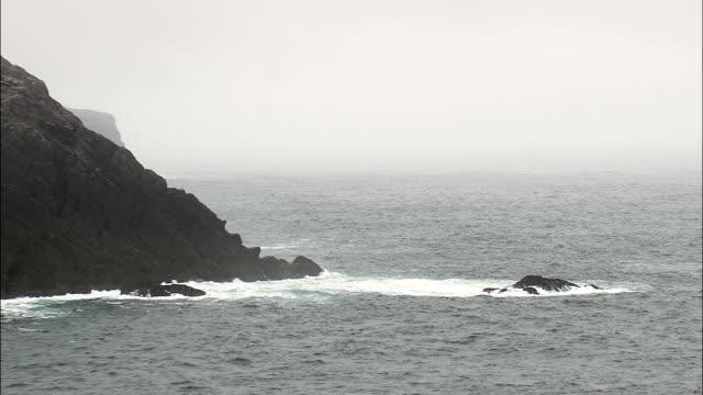Scogliere di volo andata costa Killonecaha-Vista aerea-Munster, co Kerry, ripresa dall'elicottero, Video aerea, cineflex, inquadratura d'ambientazione, Irlanda