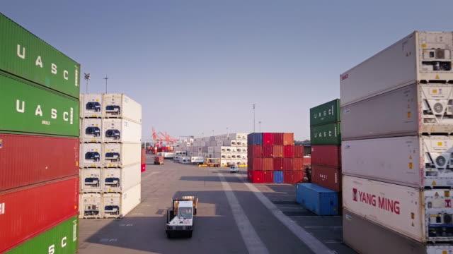 Flight Through Container Terminal