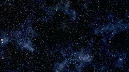 Flight through star field