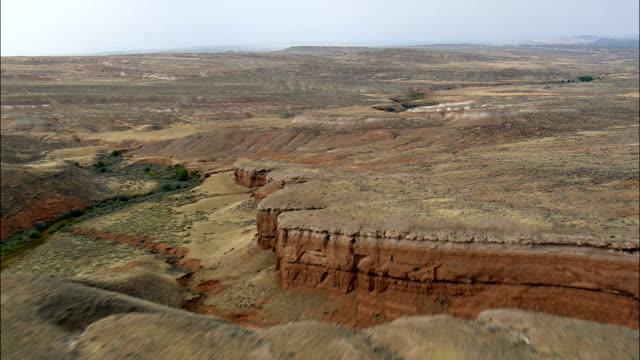 Flyg till Shell Canyon - Flygfoto - Wyoming, stora Horn County, USA