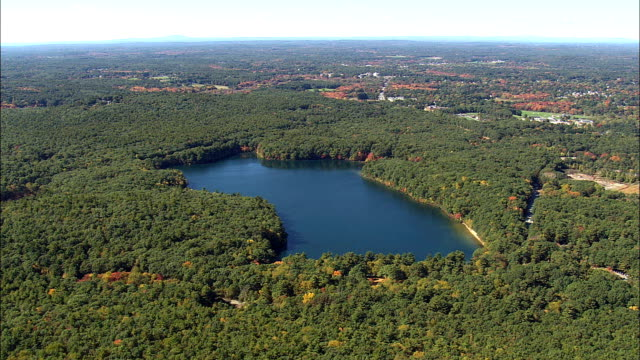 Flight To Walden Pond  - Aerial View - Massachusetts,  Middlesex County,  United States