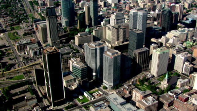 flight toward a green roofline - montréal stock videos & royalty-free footage