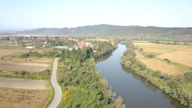 vídeos y material grabado en eventos de stock de flight towards carta monastery - transilvania