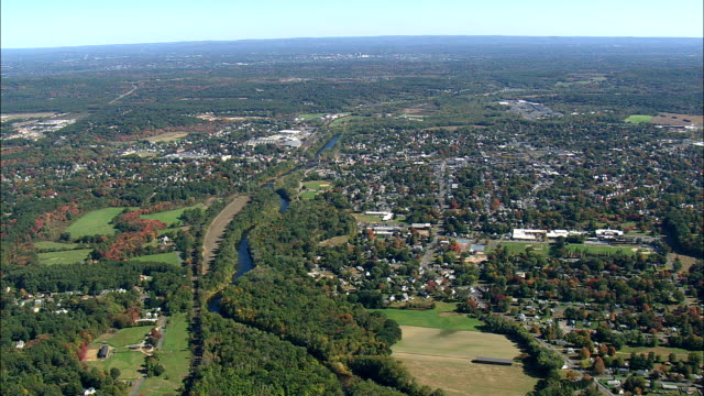 Flight Towards Westfield  - Aerial View - Massachusetts,  Hampden County,  United States