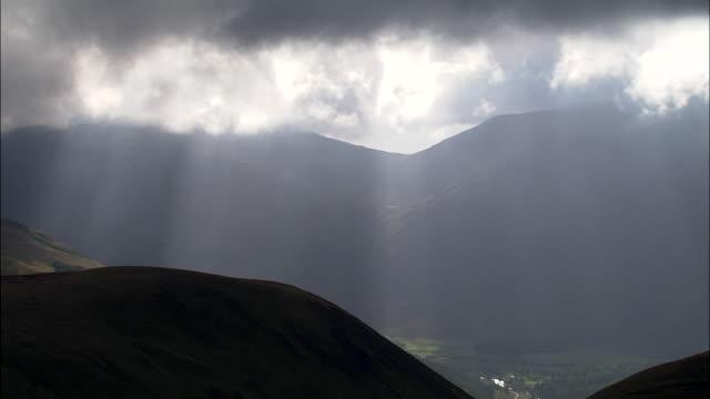 Flight With Sun Streaks In Glen Clova