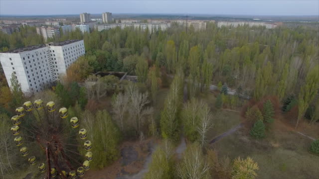 Flights in Pripyat -- abandoned town near Chernobyl Nuclear Power Plant